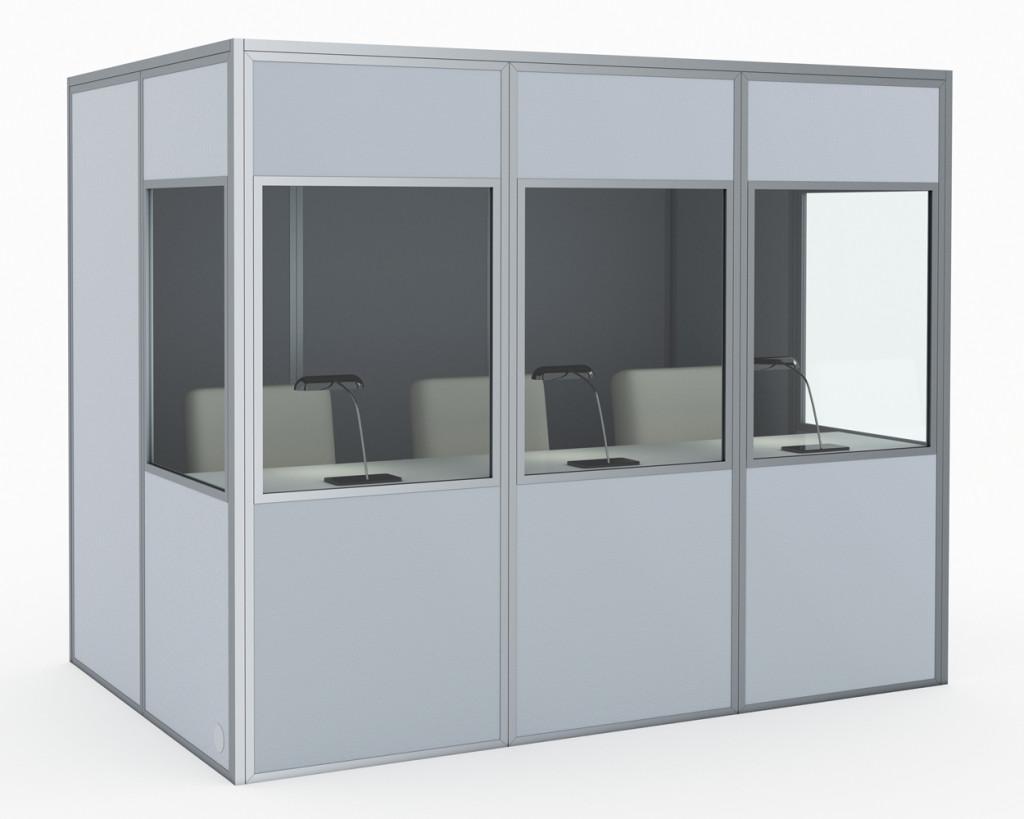 kabíny pre 3 osoby